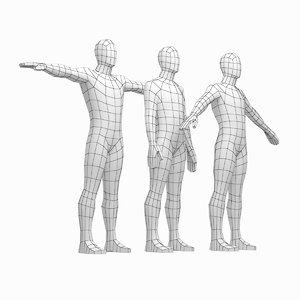 3D mesh male body 3