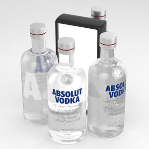 bottle vodka absolut 3D model