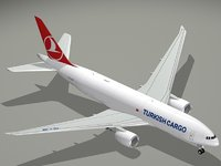 3D boeing turkish airlines cargo