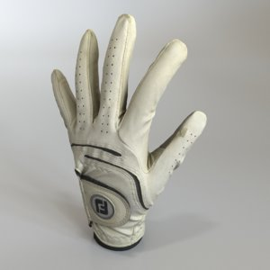 worn golf glove 3D model