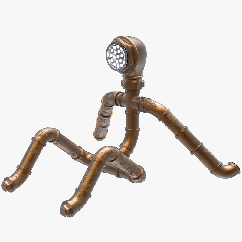 3D funny pipeman character
