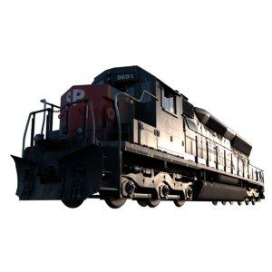 emd sd40m-2 3D model