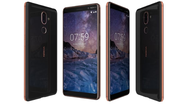 nokia 7 black copper 3D model