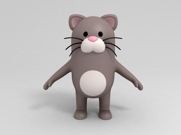 cat character cartoon model