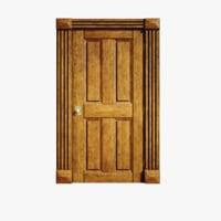 3D model lightwave wood door