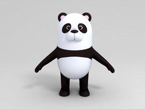 3D panda character cartoon model