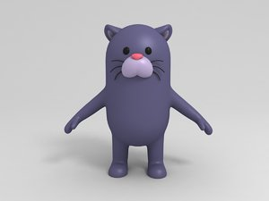 panther character cartoon 3D