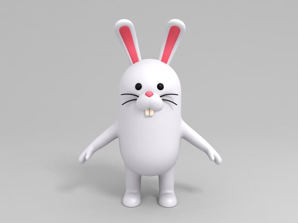 3D rabbit character cartoon