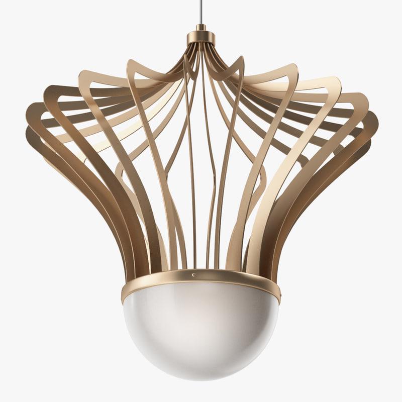 isaac light - chandelier 3D model