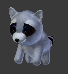 simple raccoon 3D model