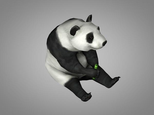 3D panda china bear
