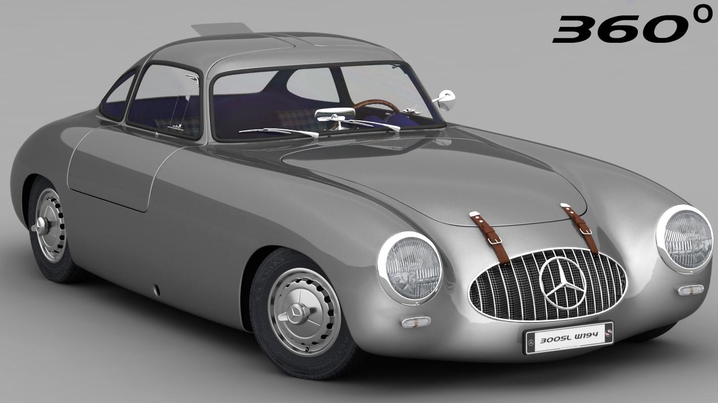 mercedes-benz 300sl 1952 interior 3D model