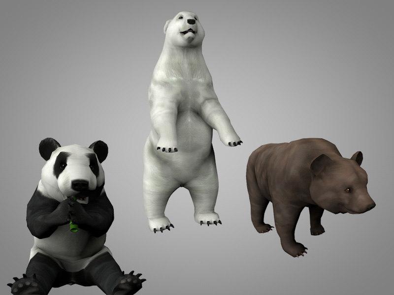 3D model pack bear