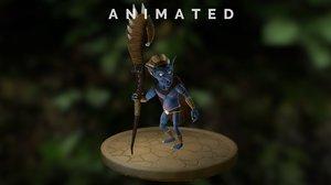 3D shaman goblin