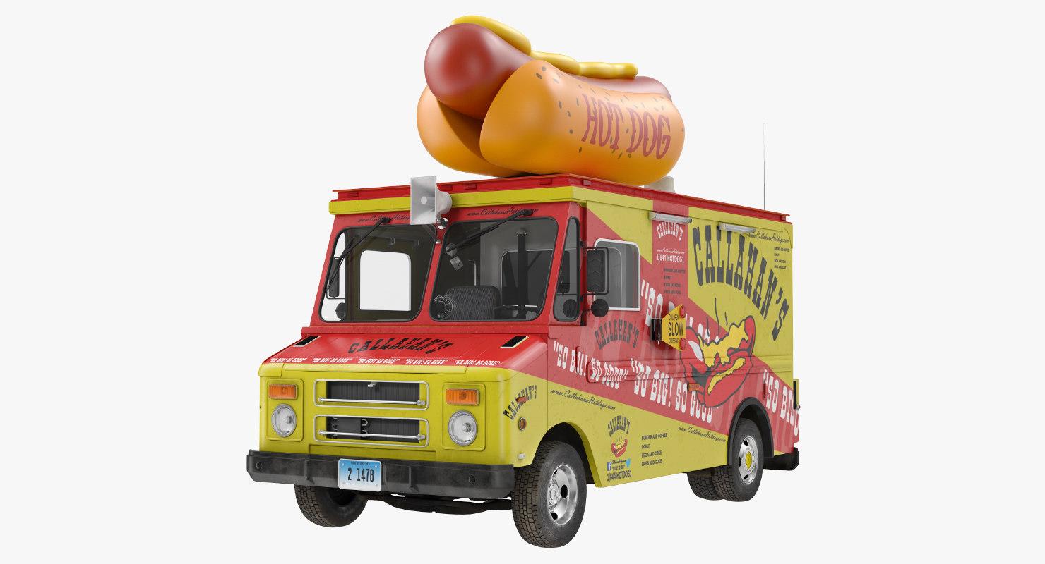 hot dog truck 3D model