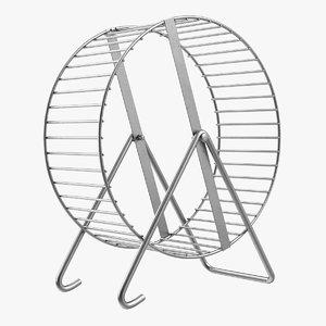 3D metal hamster wheel
