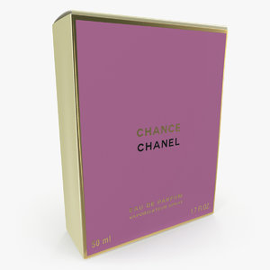 3D parfum box chanel chance