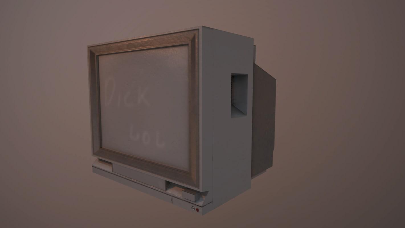 3D model set axe bat