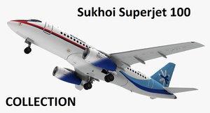 3D aircraft sukhoi superjet