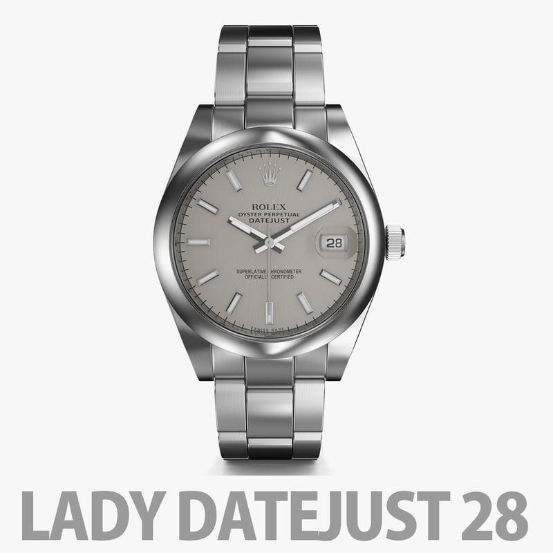 3D watch rolex datejust