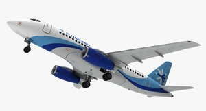 aircraft interjet jet 3D model
