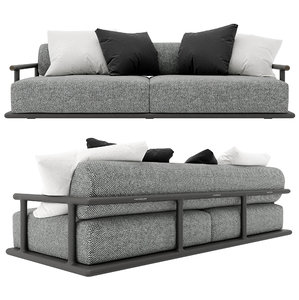 3D sofa icaro flexform mood model