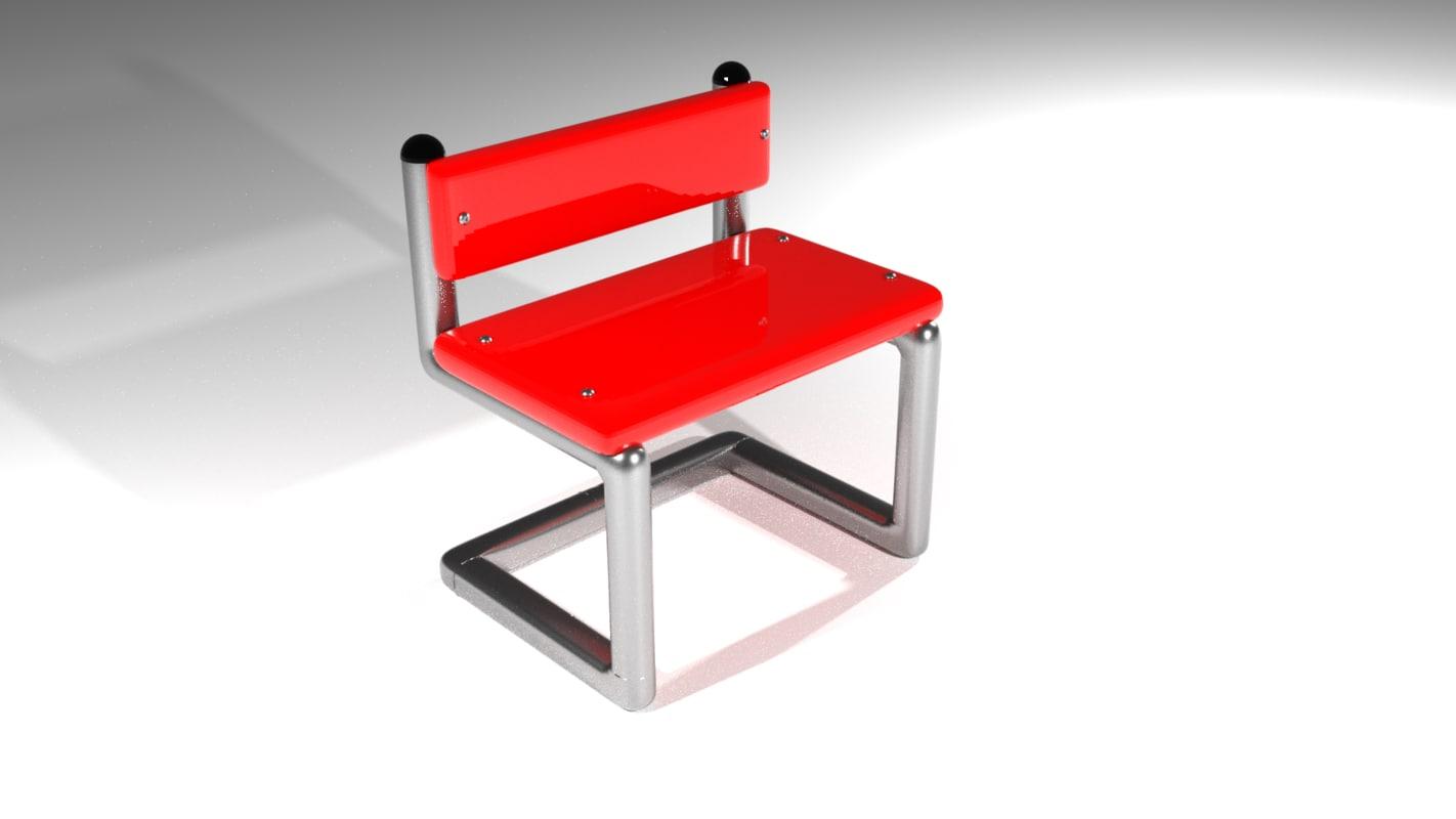 3D model chair postmodern