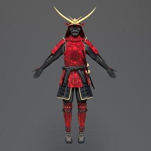 3D samurai concept armor