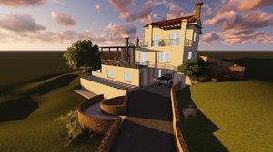 3D model project interior garden