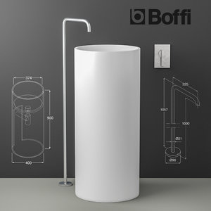 3D sink boffi phc eclipse model