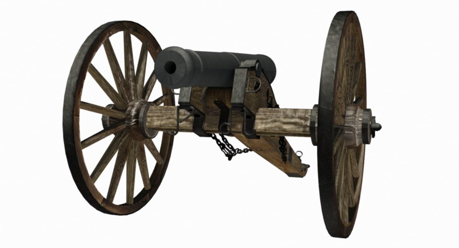 gun field 6 pounder 3D