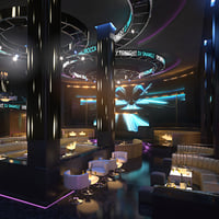 3D scene night club lounge