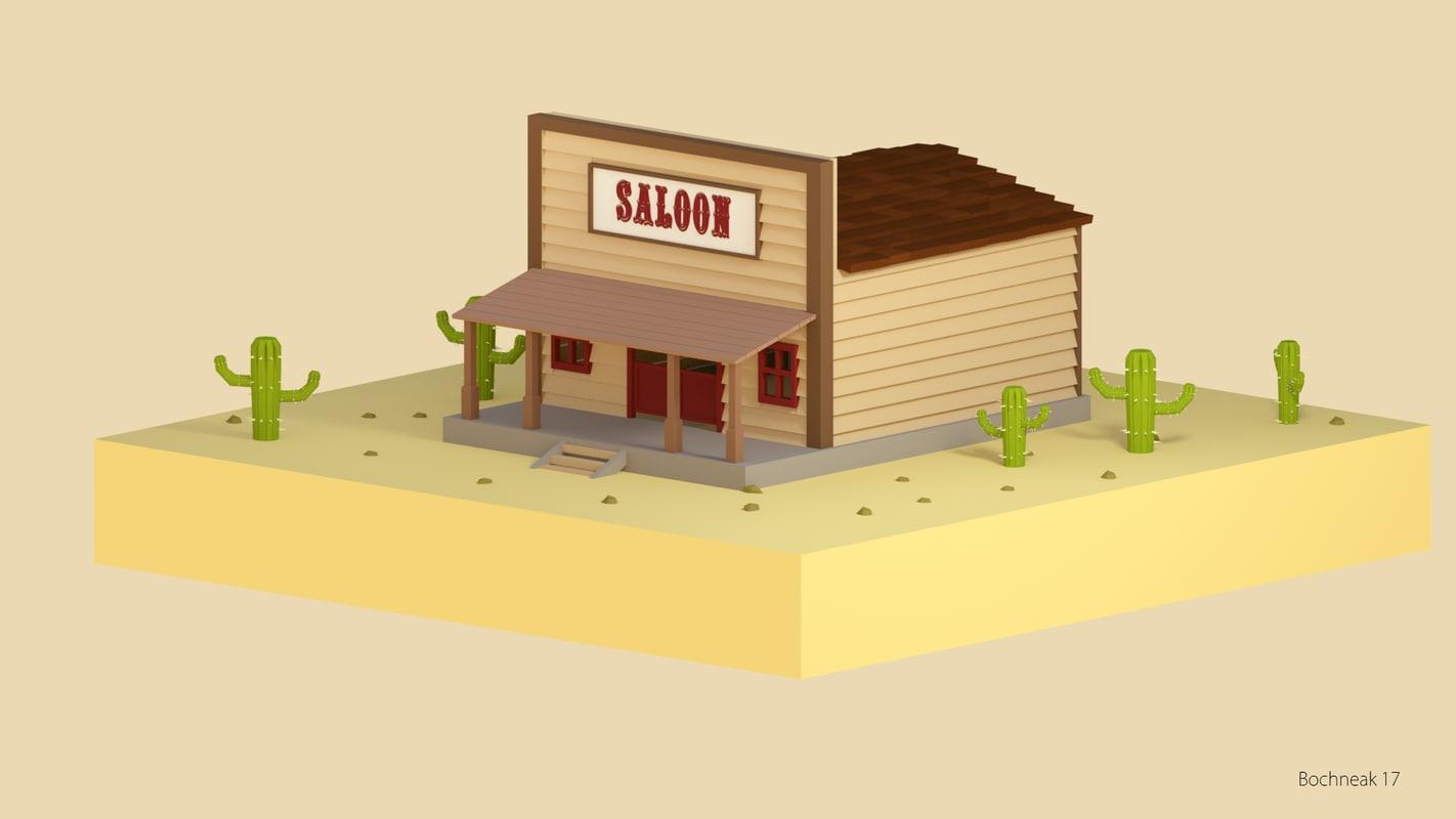 3D saloon model