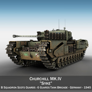 3D british churchill mk iv
