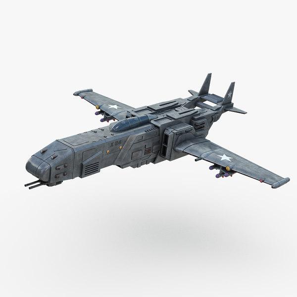 futuristic space fighter 3D