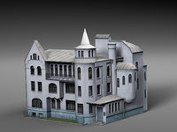 old city townhouse model