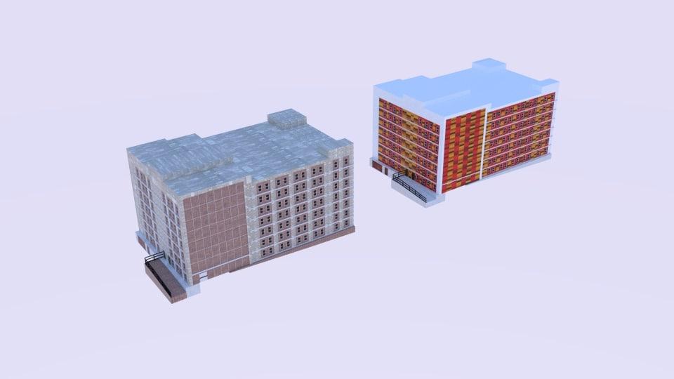 elevation asmurton ave building 3D model