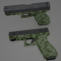 3D model glock 17 9mm pistol