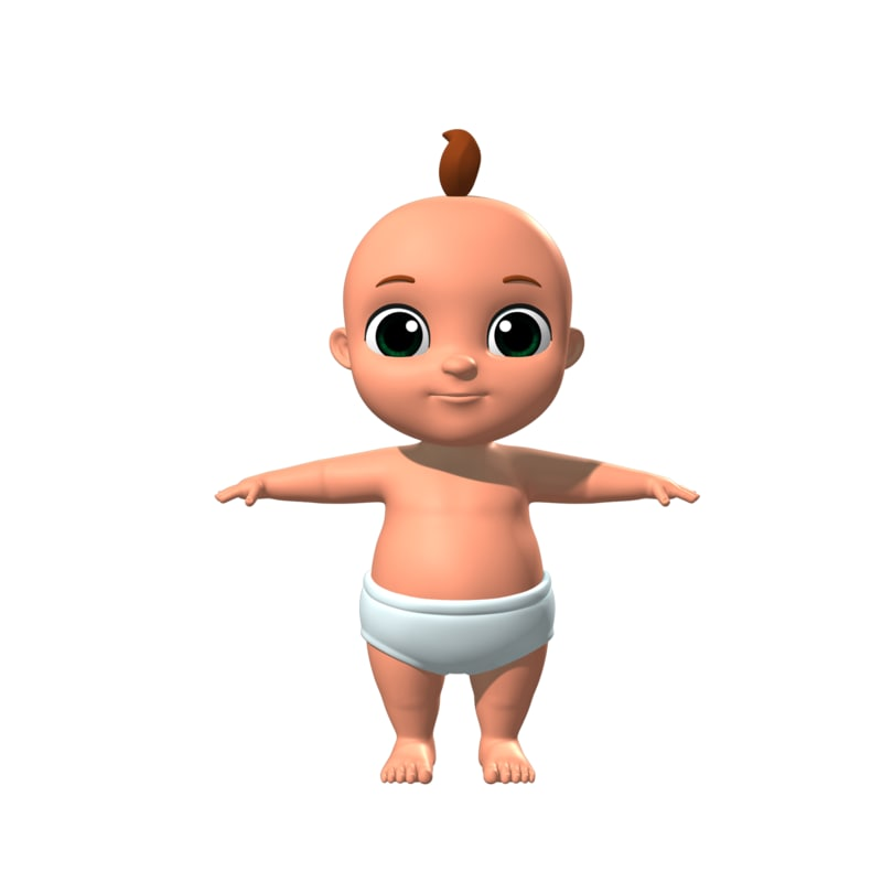 baby cartoon toon model