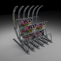 steel magazine rack model