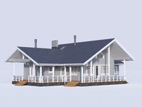 cottage siding 3D model