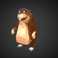 3D gopher cartoon art farm animal