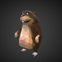 gopher cartoon grey art 3D