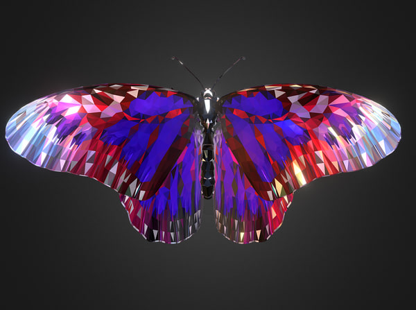 3D insect low-poly model