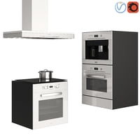 3D kitchen appliances miele white