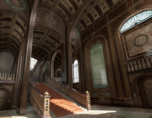 conceptual interior castle pbr 3D model