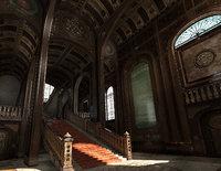conceptual interior castle pbr 3D model