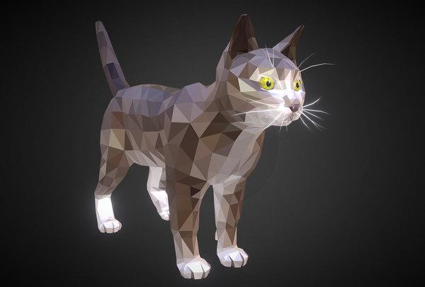 animal cat farm 3D model