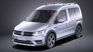 volkswagen caddy 2018 3D model