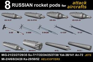 3D rockets pods russian model